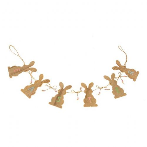 Easter Bunny Wooden Garland